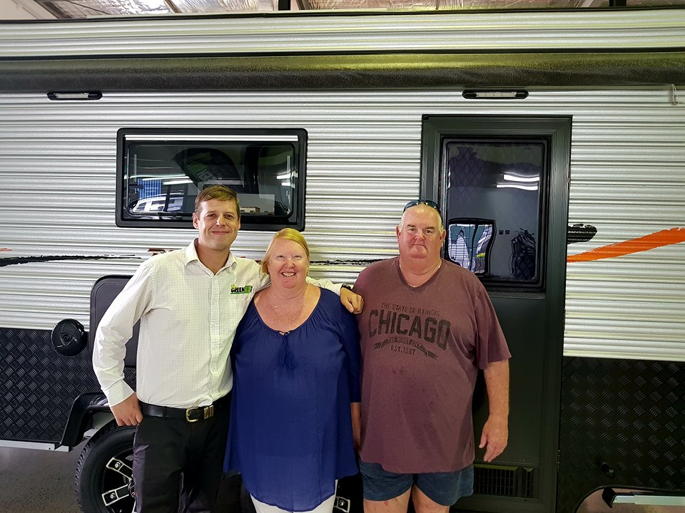 Michael and Dianne Rogan with their Regent Discoverer.