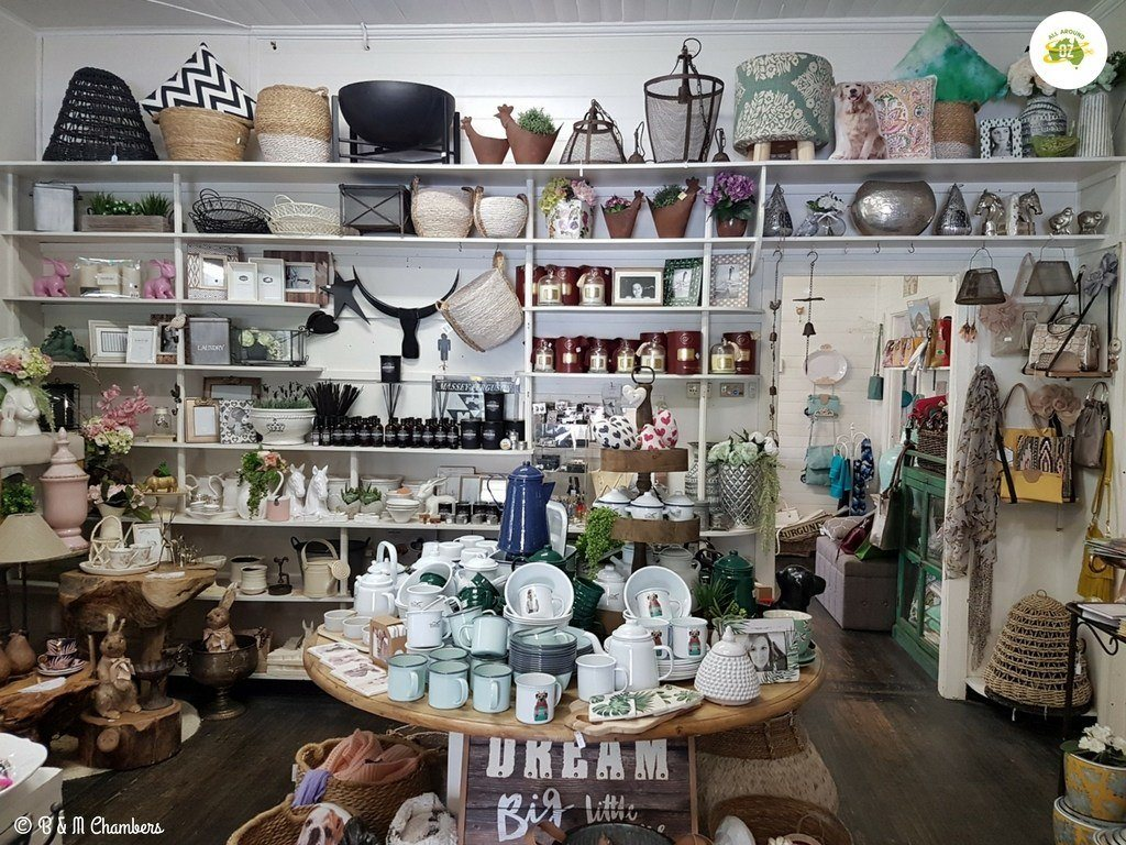 A small craft shop in Willow Tree named La Chikky Cottage