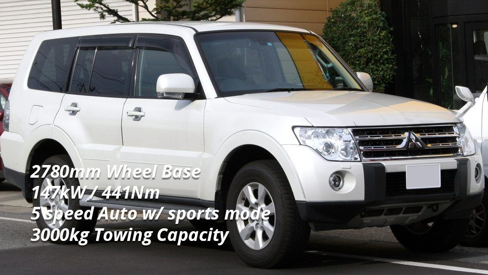Selecting a Tow Car - Mitsubishi Pajero GLS