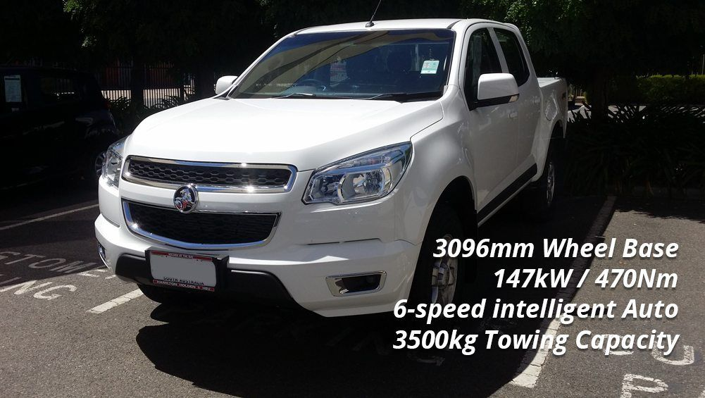 Selecting a Tow Car - Holden Colorado LTZ