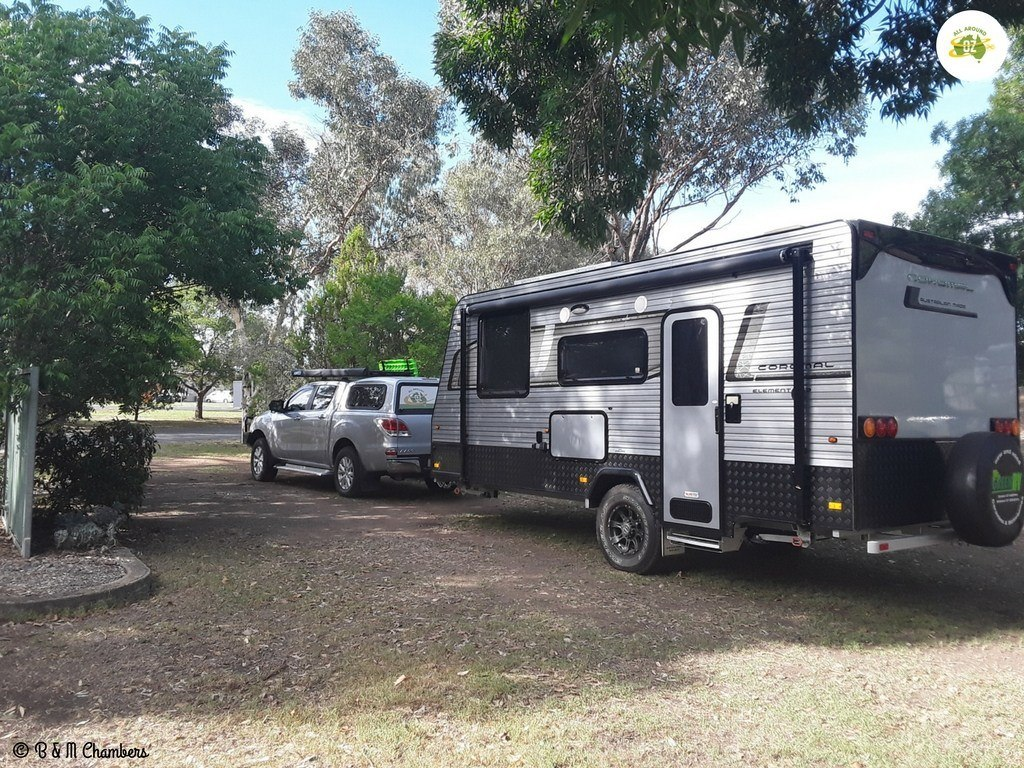Stopping our caravan journey at Barraba Caravan Park
