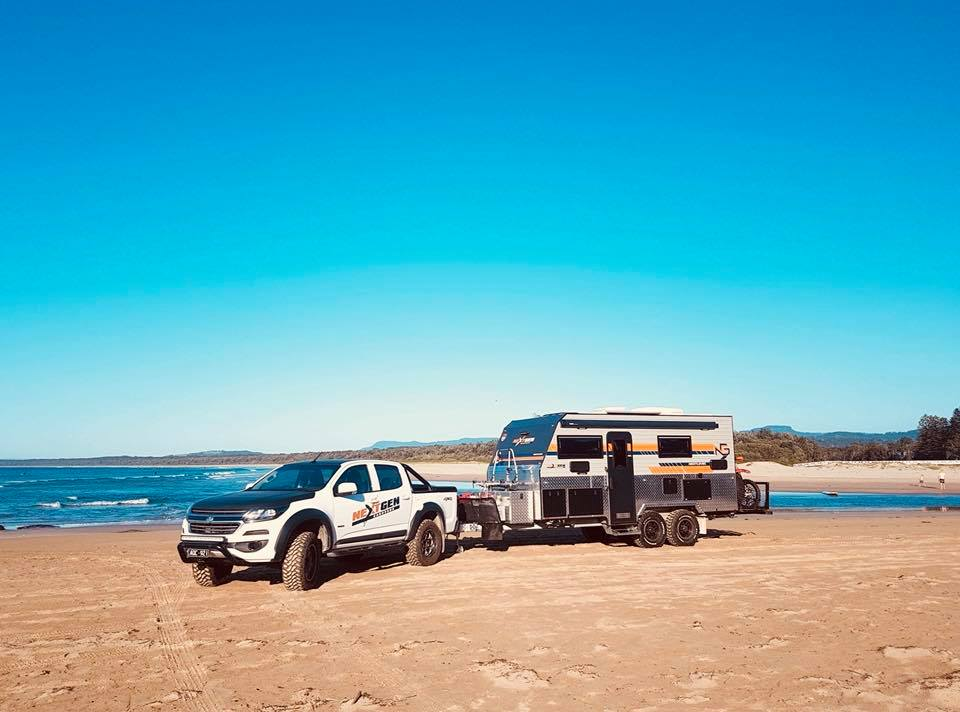 NextGen Caravan on the beach