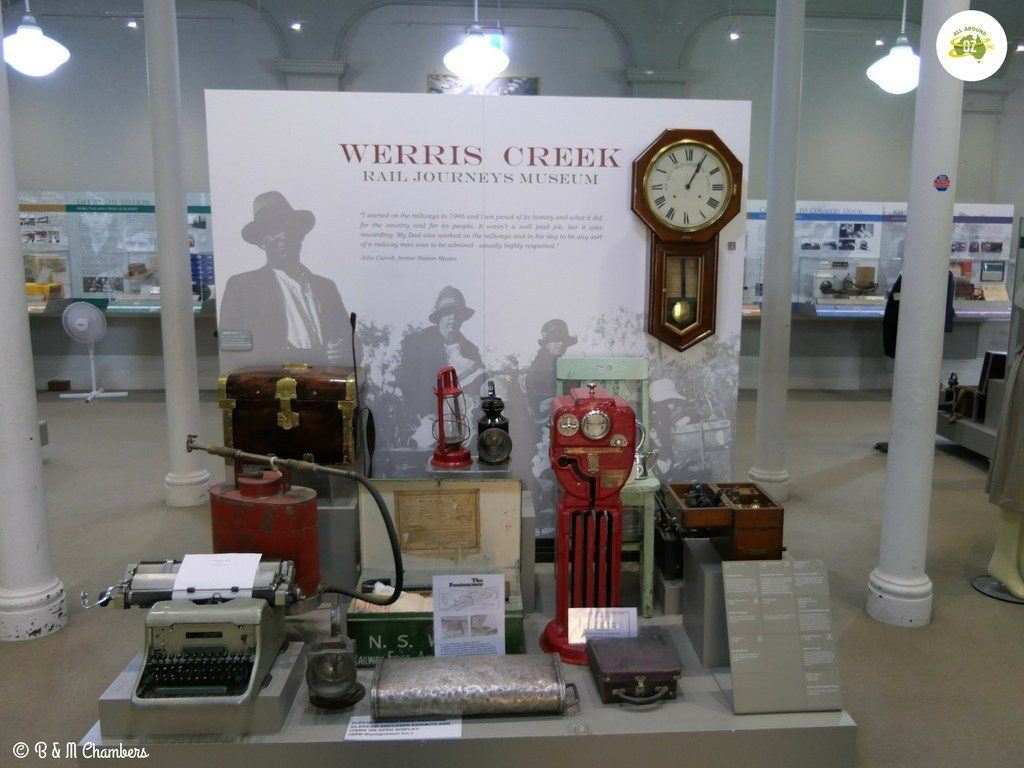 A display in Werris Creek Railway Museum